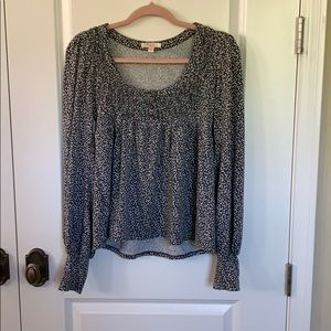 Lux Long-Sleeved Floral Blouse